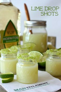 Fresh Lime Drop Shots made with the entire lime! This is a recipe you won't want to miss!