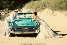 Wedding with cars