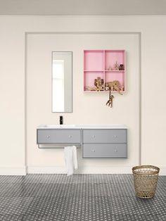 Bathroom - Grey - Pink - Pretty