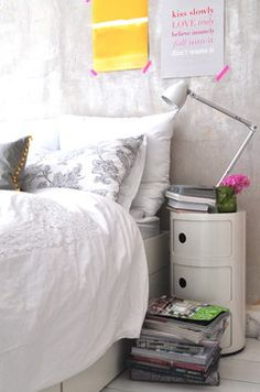 Kartell Componibili in the bedroom as a bedside table