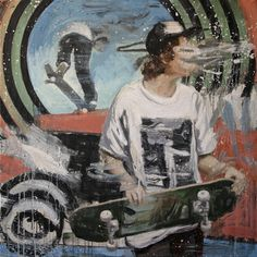 """Saatchi Art Artist Kjetil Jul; Painting, """"Street scene 5 SOLD"""" #art"""
