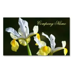 Iris Business cards   #flowers #business #cards #gifts #garden