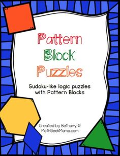 This set of interactive logic puzzles will have kids begging for more! Easy to use, these pattern block puzzles help kids think logically, while learning about shapes. Laminate to use over and over again!