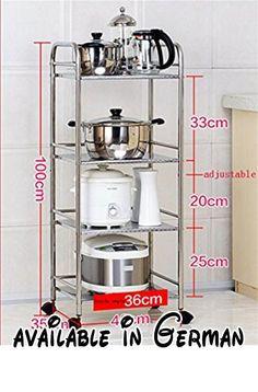 B078WR8B3Q : L&Y Kitchen furniture Küche Regale Mikrowelle Ofen Rack Landing Edelstahl Pot Rack Küche Zubehör Zulassung Lagerung Rack (vier Schichten) Lagerregal ( Farbe : #1  größe : 40 cm ). Lieferzeit 10-15 Tage Rückgabebereich 30 Tage.. Der Messfehler innerhalb von 1-2 cm ist normal.. Die Produkte die wir verkaufen sind nagelneu authentisch Qualitätssicherung bitte seien Sie versichert Kauf.. Wenn Sie einen Streit haben auch wenn es nur ein Problem gab