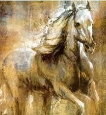 Adore the color palate of this horse painting.....