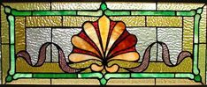 We had a stained glass window like this in the stairway going upstairs to the second story of our country home.