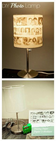 DIY Picture Lampshade-Master bedroom with wedding pics? Or kids photos.