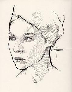 Ink-portrait-009 by mekhz.deviantart.com on @DeviantArt