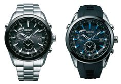 The Seiko GPS Solar Astron collection comprises designs in both high-intensity titanium and stainless steel.