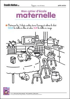 Logique - Petite Section - Sur et sous Senses Activities, Preschool Activities, French Course, French Classroom, French Lessons, Teaching French, Lessons For Kids, Learn French, Pre School