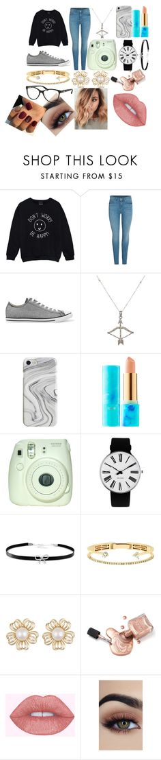 """""""Don't Worry, Be Happy"""" by abbytherose ❤ liked on Polyvore featuring Converse, Feathered Soul, Recover, tarte, Fuji, Rosendahl, Giani Bernini, Delfina Delettrez and Bulgari"""