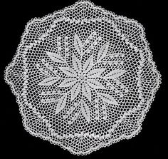 NEW! Lily of the Valley Doily crochet pattern from Star Doily Book No. 137, by American Thread Company.