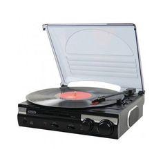 Jensen Record Player 3 Speed Stereo Turntable with Built In Speaker Vinyl To MP3 #Jensen
