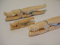 Whittled Crocodile Family by siegeandspike on DeviantArt