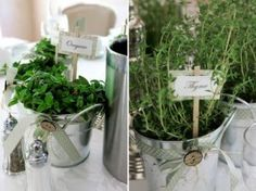 As weird as it may sounds, I'd love some fresh herbs as my centerpieces if I get married (bf and I are food lovers)