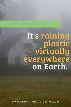 A new study found plastic particles in the rain in a remote part of the U.S. The most alarming question this study raises is how much plastic waste permeates the air, water and soil of Earth, regardless of proximity to urban areas? Scientists say plastic is virtually everywhere on Earth, and often more than we can see. Follow the link to find out more. >>>> #science #studies #rain #plasticpollution #plastic #plasticfree #toxicfree #chemicals #nature #greenliving #sustainablehome