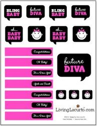 Free printable baby shower cupcake toppers for boy and - Candy candy diva futura ...