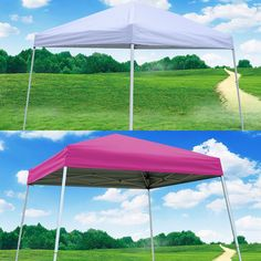 EZ POP UP Wedding Party Tent Folding Gazebo Beach Canopy W/Carry Bag 10'x10' New #Penton
