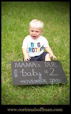 www.corinnahoffman.com - Baby Announcement - Big Brother - Jacksonville Florida Family Photographer