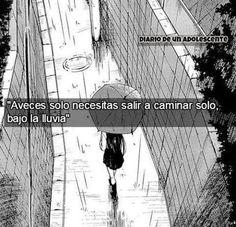 Aveces solo nececitas salir a #caminar solo, bajo la #lluvia