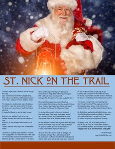 St. Nick on the Trail Printable from The First 40 Miles Podcast (TheFirst40Miles.com)