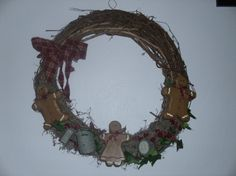 18 gingerbread wreath with mini kitchen implements by judypope, $18.00