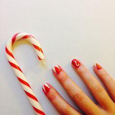 Nail Art de Noël blanc et rouge #vernis #npa #manucure #nailpolish #monvanityideal