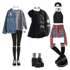 """""""Inspired by how Blink 182 makes me feel (requested)"""" by grungeclothes ❤ liked on Polyvore featuring Vans, Charlotte Russe, Topshop, Boohoo, American Apparel, R13 and King Apparel"""