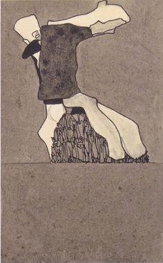 Egon Schiele   Komposition mit zwei Gestalten   1909