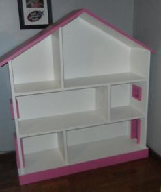 I almost convinced myself that I need to purchase this dollhouse bookcase from Pottery Barn Kids but my Mama found this project plan in Ana-White.com! Such a great site!