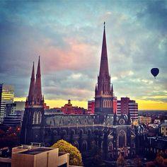 Sunrise #Melbourne #Australia  by trendygirltravz (instagram)