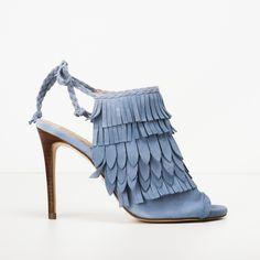 #zapatos #sandalia #tacón #ante #suede de la nueva colección #SS de #pedromiralles en color #azul #blue #shoponline