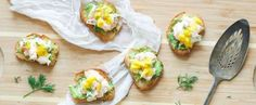Land meets sea for this mouthwatering toast — Runway Chef Vegan and gluten-free salsa verde is a perfect fit for any diet — Knead to Cook This jam has a delicious and surprising kick — Coconut and Lim