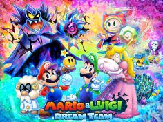 Love the art style for this game's packaging/print ads, with the blue outlines. Super slick.    Mario and Luigi: Dream Team - The Year of Luigi by ~Legend-tony980 on deviantART