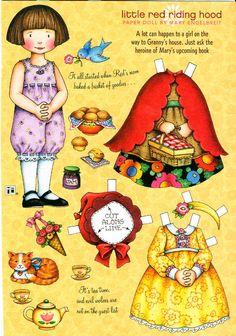 Uncut Paper Doll Little Red Riding Hood by Mary Engelbreit http://www.pinterest.com/madamepixel/paper-dolls/