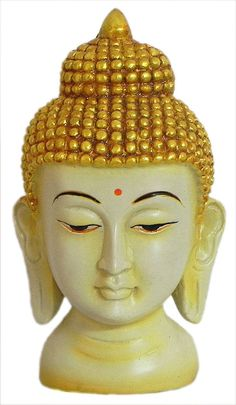 Buddha Face (Poly Resin))