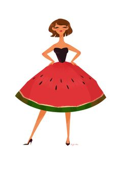 Fruit fashion!Yummy! Melon is soooo delicious. And it would be so awesome to have a melon dress!The next one will be a pineapple dress…