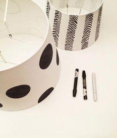 DIY painted lamp @Agata Winer @Susana Mera -  oh! I'm so making my own cool personalized lamp