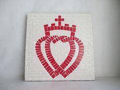"""Tableau mosaïque """" Coeur Vendéen"""" : Mosaiques par na-mosaique"""