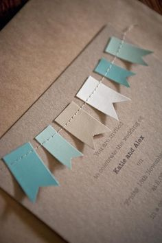 Wedding invitation from Inside Out Magazine