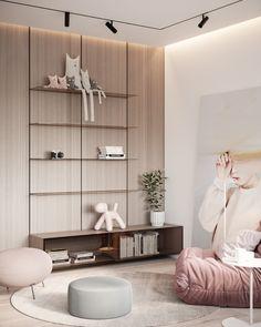 Two-level urban apartment for a four-person family Design Loft, Home Room Design, House Design, Design Design, Design Ideas, Urban Apartment, Apartment Design, Contemporary Apartment, Contemporary Interior