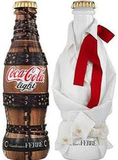 "2010 Coca Cola Light ""Tribute to Fashion"" Limited Edition bottles designed by Gianfranco Ferré"