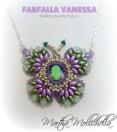 Martha Mollichella: Pendente Farfalla - Delicate ali colorate sul vost...