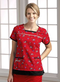 Old Friend of Mine Dog Print Scrub Top by ME #uniforms #nurses