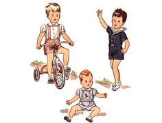 Vintage 1940s Sewing Pattern  Baby Boy Sailor by FriskyScissors, $20.00