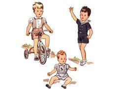 Vintage 1940s Sewing Pattern  Baby Boy Sailor by FriskyScissors, $20.00