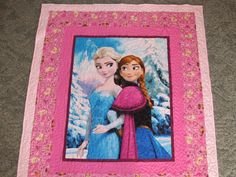 "Disneys Frozen Quilt - Anna and Elsa Quilt - 51"" x 58"" by TheKingsQuiltShop on Etsy"