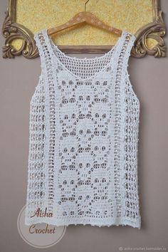 Fabulous Crochet a Little Black Crochet Dress Ideas. Georgeous Crochet a Little Black Crochet Dress Ideas. Pull Crochet, Gilet Crochet, Stitch Crochet, Crochet Tank, Crochet Diagram, Crochet Blouse, Knit Crochet, Crochet Style, Crochet Bodycon Dresses