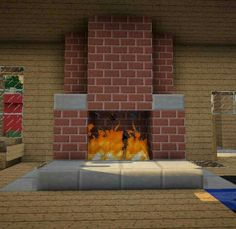 Minecraft fireplace