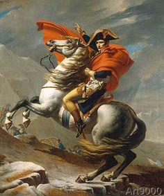 Jacques-Louis David - Bonaparte franchissant le Grand Saint-Bernard